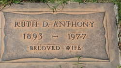 Ruth Druzilla <i>Curtis</i> Anthony