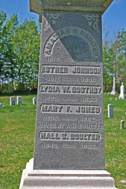 Mary F <i>Jones</i> Boulter