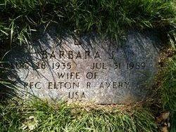 Barbara J <i>Webster</i> Avery