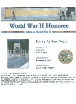 Sgt Harry A. Buddy Nogle