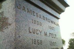 Lucy M. <i>Felt</i> Brown