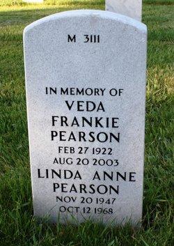 Veda Frankie <i>Burks</i> Pearson