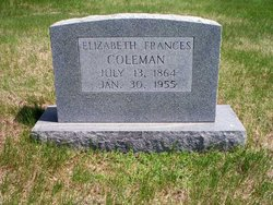 Elizabeth Frances <i>Shumate</i> Coleman