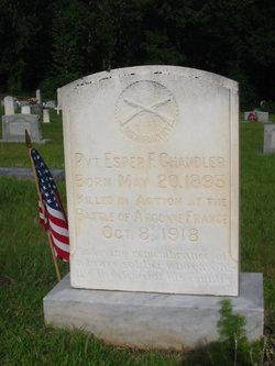 Pvt Esper F. Chandler
