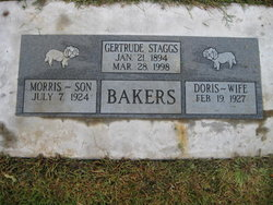 Gertrude <i>Staggs</i> Bakers