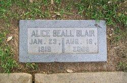 Alice <i>Beall</i> Blair