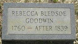 Rebecca <i>Bledsoe</i> Goodwin