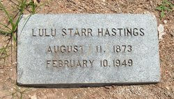 Lulu Mayfield <i>Starr</i> Hastings