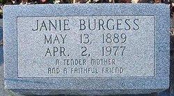 Eliza Jane Janie <i>Tuggle</i> Burgess