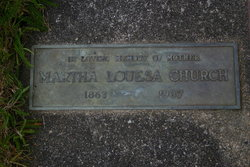 Martha Louise <i>Jewett</i> Church