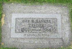 Avis Beryl <i>Ackerman</i> Taylor
