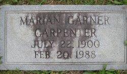 Marian <i>Garner</i> Carpenter