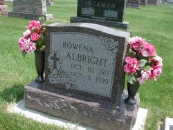 Rowena E <i>Doran</i> Albright