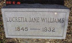 Lucretia Jane <i>Reynolds</i> Williams
