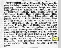 Elizabeth Jane <i>Hart</i> Bethurum