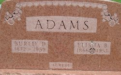 Burlie D Adams