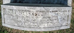 Lucille <i>Heiskell</i> Anderson