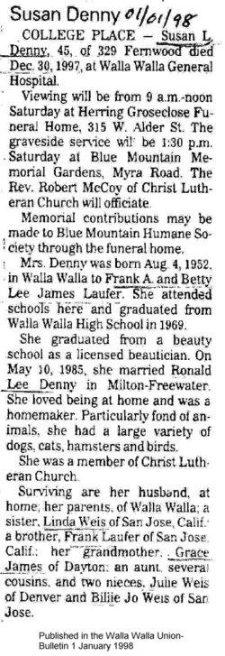 Susan L. <i>Laufer</i> Denny