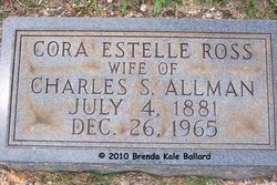 Cora Estelle <i>Ross</i> Allman