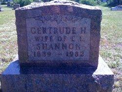 Gertrude H Shannon