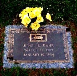 Ethel Louise <i>Will</i> Bahr