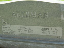 Ethel <i>Ireland</i> Akerman