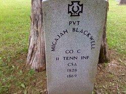 Pvt Micajah Blackwell CSA