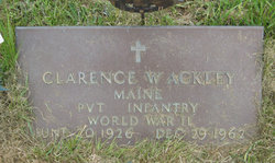 Clarence W Ackley