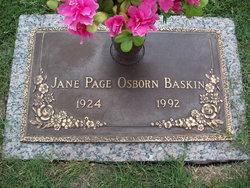Jane Page <i>Osborn</i> Baskin