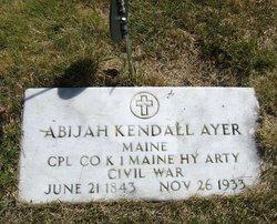 Corp Abijah Kendall Ayer