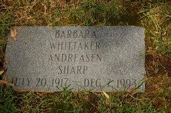 Barbara <i>Whittaker</i> Andreasen Sharp