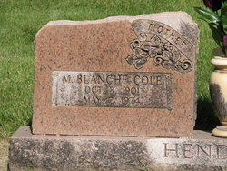 M Blanche <i>Cole</i> Hendricks