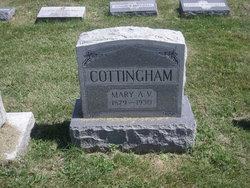 Mary Alice Virginia <i>Reed</i> Cottingham