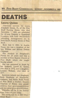 Laura Elizabeth <i>Chipman</i> Quinn