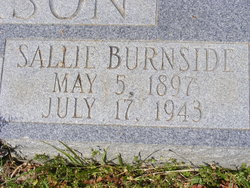 Sallie <i>Burnside</i> Anderson