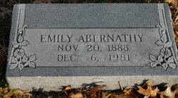 Emily <i>Pendergret</i> Abernathy