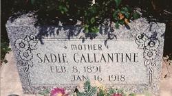 Sadie Ellen <i>Pavey</i> Callantine