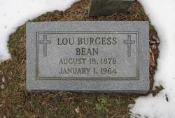 Lou Emma Blan <i>Milstead</i> Burgess-Bean