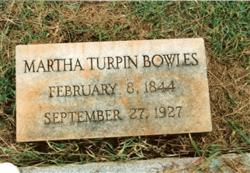 Martha Porter <i>Turpin</i> Bowles