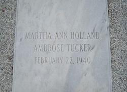 Martha Ann <i>Holland</i> Ambrose/Tucker