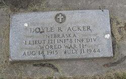 Lieut Doyle R Acker