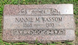 Nancy M. Nannie <i>Rutherford</i> Wassom