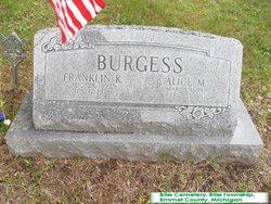Alice M <i>Shinn</i> Burgess