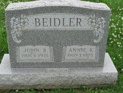 Annie K <i>Graorke</i> Beidler