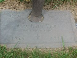 Alta Ruth Dotty <i>Elliott</i> Vick