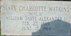 Mary Charlotte <i>Watkins</i> Alexander