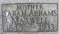 Sarah A <i>Clark</i> Maxwell