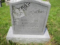 Mary Ann <i>Bates</i> Gibson
