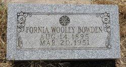 Fornia Mae <i>Wooley</i> Bowden