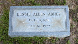 Bessie Alma <i>Allen</i> Abney